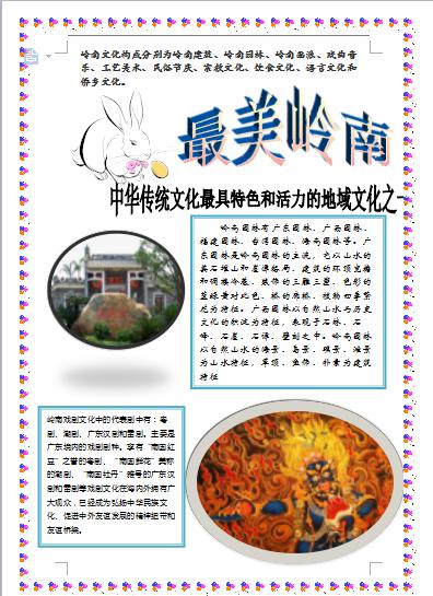 广州市商贸职业学校第八届艺术节word排版作品投票