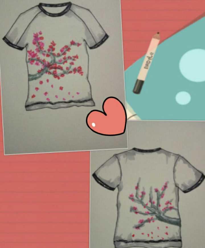 以春为元素的服装手绘图