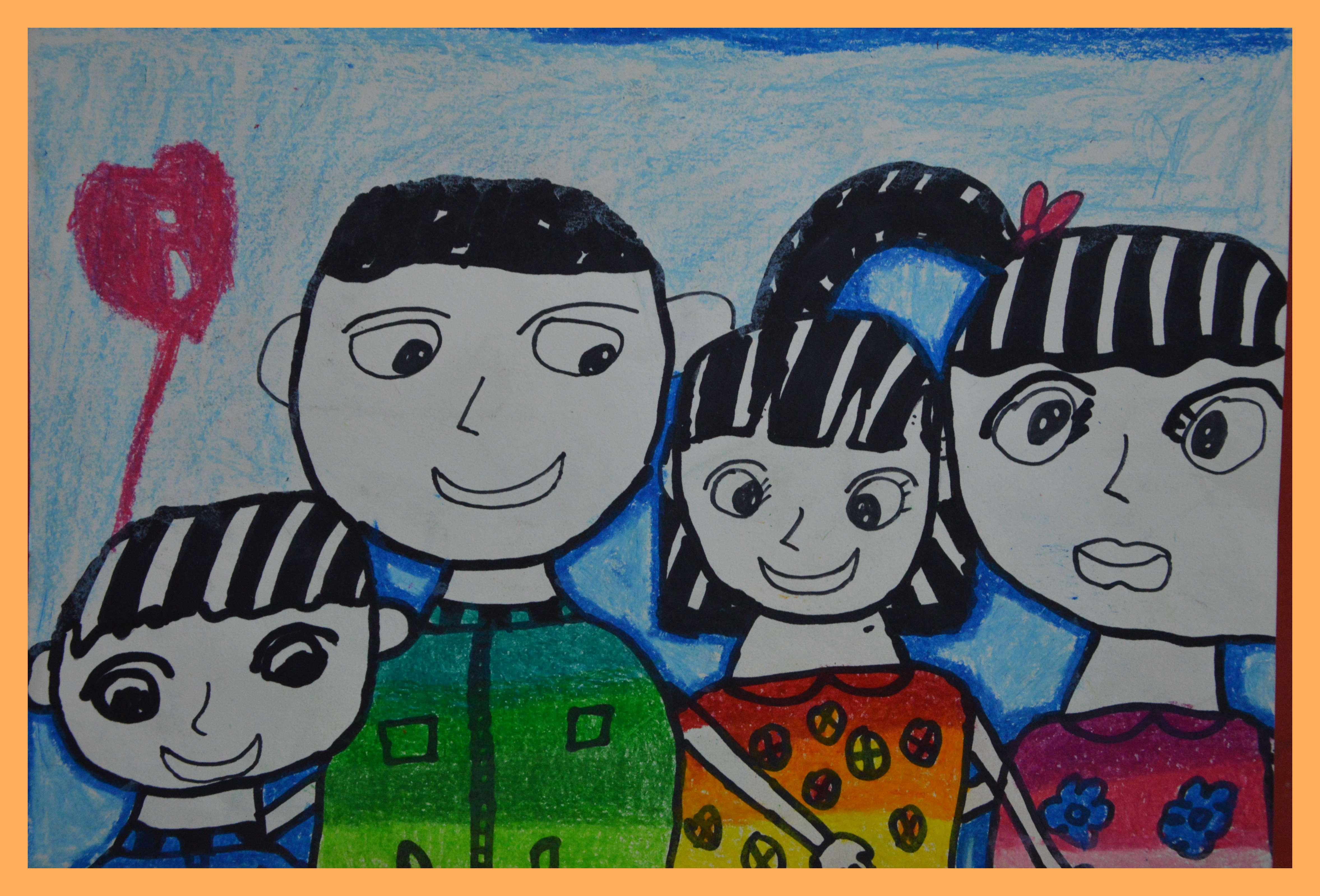 麦田彩虹口袋全家福画作比赛-项目学校篇图片
