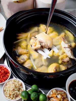 手工制作火锅食物